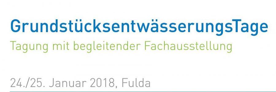 Grundstücksentwässerungstag der DWA 2018